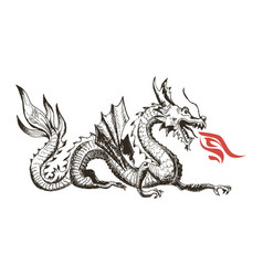 Chinese dragon as china symbol and attribute vector