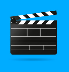 clap movie board clapper vector image