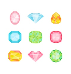 Colorful Geometric Diamonds vector