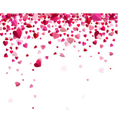 Confetti of hearts vector