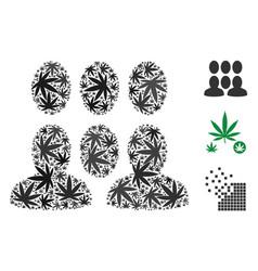 Crowd composition of marijuana vector