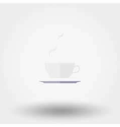 Cup with a hot drink Icon vector image