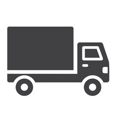 delivery truck glyph icon transport and vehicle vector image