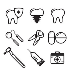 dental medichine icon vector image