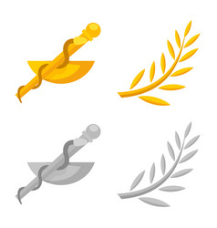 Design deity and antique symbol set vector