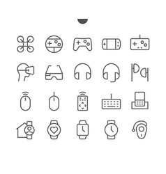 Devices ui pixel perfect well-crafted thin vector
