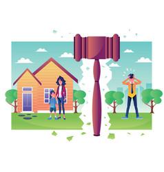 Divorce concept flat design vector