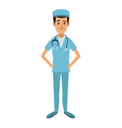 doctor male standing wearing surgery clothes vector image