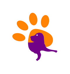 dog icon isolated on white background vector image