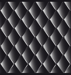 Drawing of the black quilted leather vector