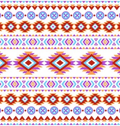 Ethnic striped seamless pattern vector image