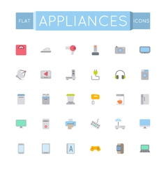Flat Appliances Icons vector image