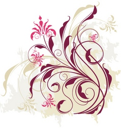 floral vine graphic vector image