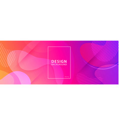 fluid shape banner design background liquid vector image