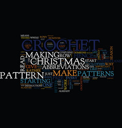 Free christmas crochet patterns text background vector