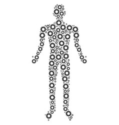gear person figure vector image