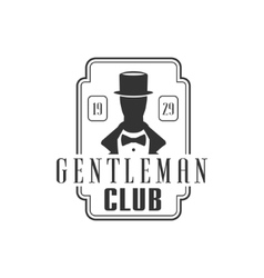 Gentleman Club Label Design vector image