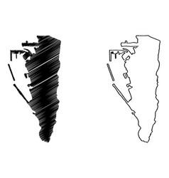 gibraltar map vector image