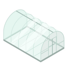 Glass greenhouse icon isometric style vector