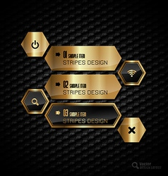 Golden Hexagons vector image