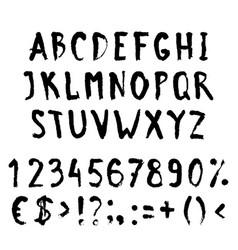 grunge black alphabet vector image