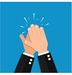 hand clap success vector image