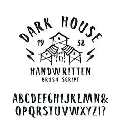 Handwritten brush font in horror style vector