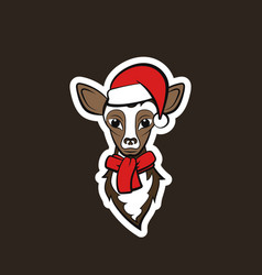 head of a young deer vector image