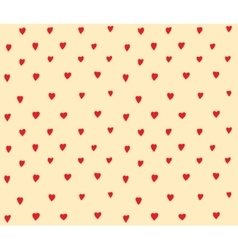 Hearts dots seamless pattern simple decoration vector image