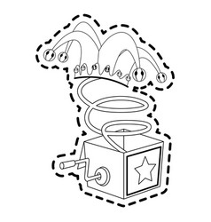 jack in the box toy icon image vector image