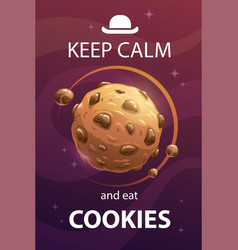 Keep calm and eat cookies funny motivation vector