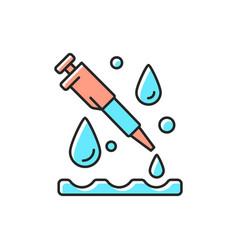 Laboratory pipette rgb color icon vector