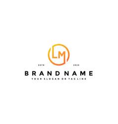 Letter lm logo design vector