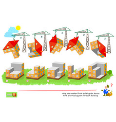 Logic game for smartest 3d puzzle help worker vector