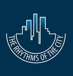 Logo rhythms of the city at night vector