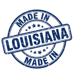Made in louisiana blue grunge round stamp vector