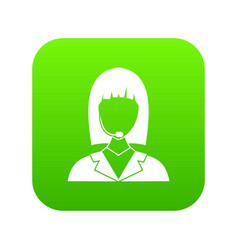 manager taxi icon digital green vector image