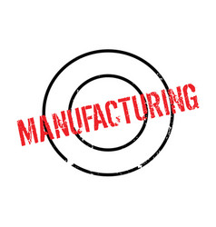 Manufacturing rubber stamp vector