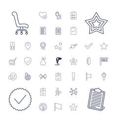 Mark icons vector