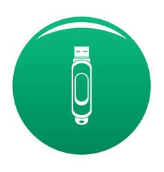 Mini usb icon green vector