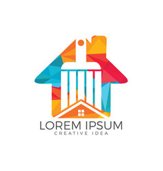 modern real estate logo design vector image