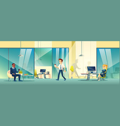 Modern reception area interior in business office vector