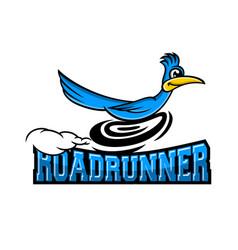 Modern roadrunner bird logo vector