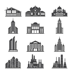 monochrome silhouettes of different modern vector image vector image