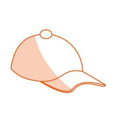Monocromatic hat design vector
