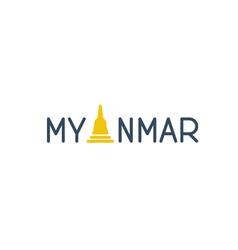 Myanmar word logo concept vector