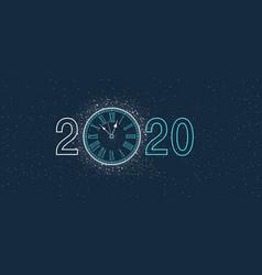 new year clock 2020 vector image