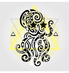 Octopus Tribal pattern vector