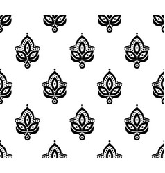 ornamental seamless floral element pattern vector image