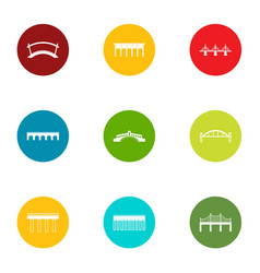 pavement icons set flat style vector image